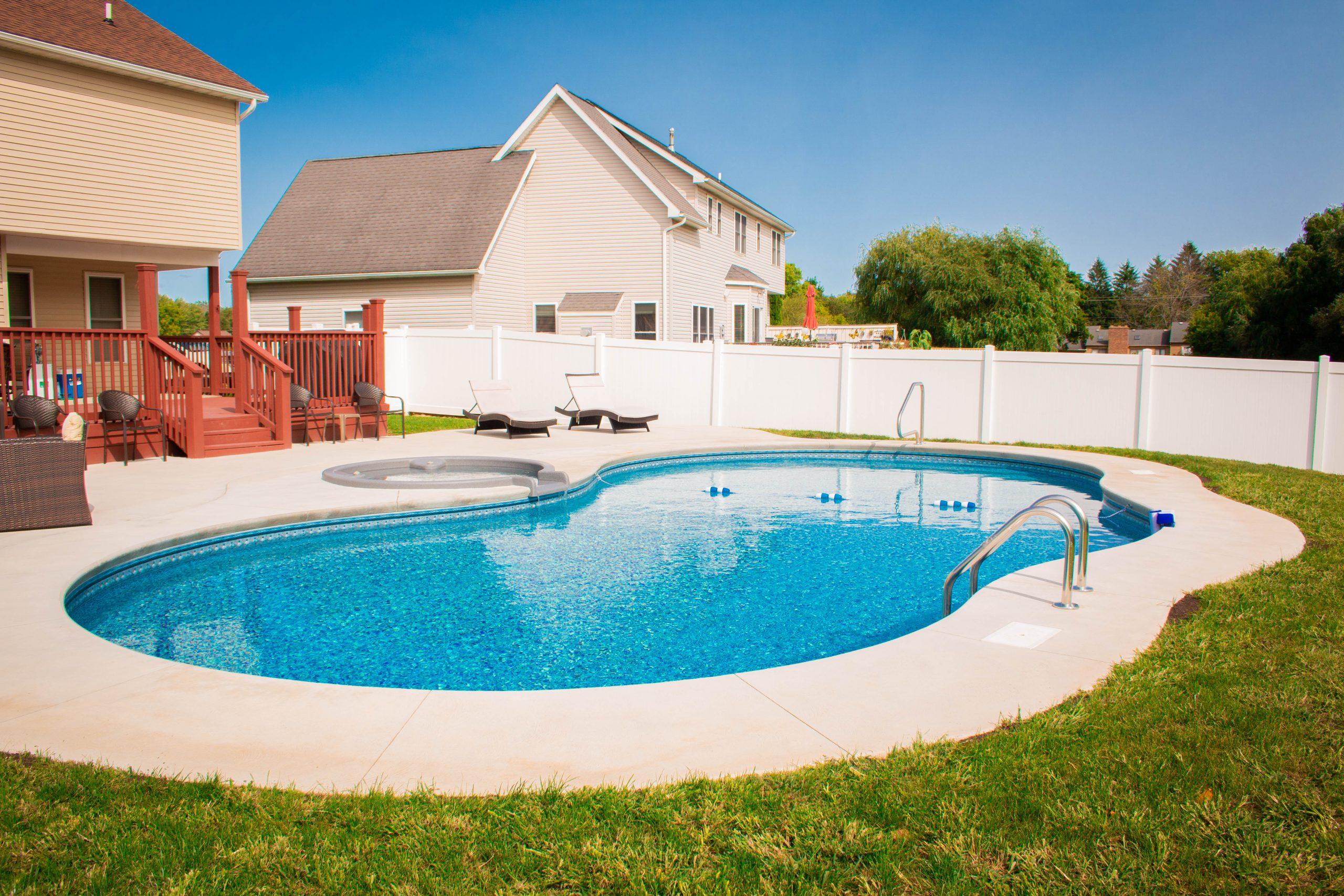 North Eastern Pools inground pool in a backyard